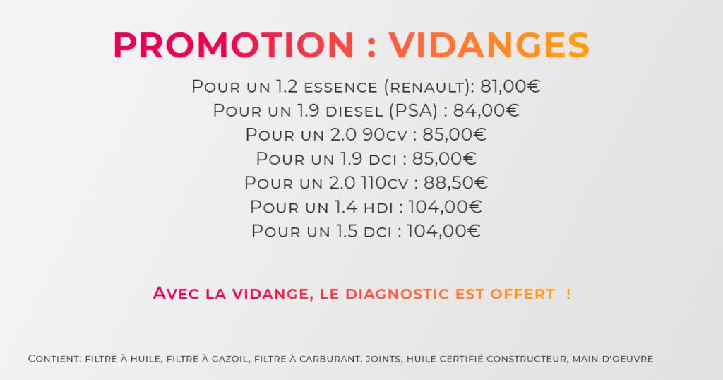 promotion vidange