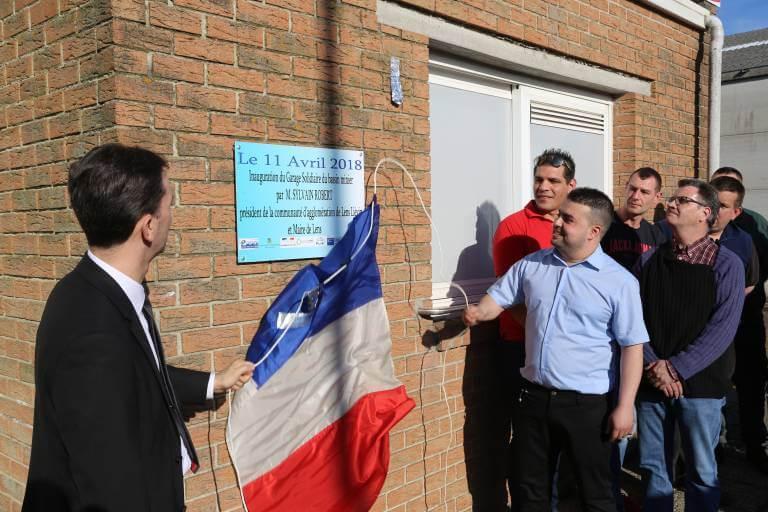 Inauguration du garage solidaire